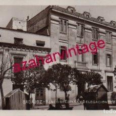 Postales: BADAJOZ, SIN EDITOR, FOTOGRÁFICA, BANCO DE ESPAÑA Y DELEGACION DE HACIENDA. Lote 175391069