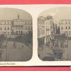 Postales: VISTAS ESTEREOSCOPICAS DE ESPAÑA, BADAJOZ- Nº 4 PLAZA DE SAN JUAN, VER FOTOS. Lote 175864103