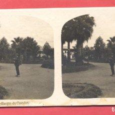 Postales: VISTAS ESTEREOSCOPICAS DE ESPAÑA, BADAJOZ- Nº 6 PARQUE DE CASTELAR, VER FOTOS. Lote 175864414