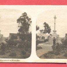 Postales: VISTAS ESTEREOSCOPICAS DE ESPAÑA, BADAJOZ- Nº 7 MONUMENTO A MENACHO, VER FOTOS. Lote 175864638