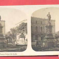 Postales: VISTAS ESTEREOSCOPICAS DE ESPAÑA, BADAJOZ- Nº 8 TEATRO LOPEZ DE AYALA, VER FOTOS. Lote 175864748