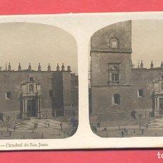 Postales: VISTAS ESTEREOSCOPICAS DE ESPAÑA, BADAJOZ- Nº 9 CATEDRAL DE SAN JUAN, VER FOTOS. Lote 175864923