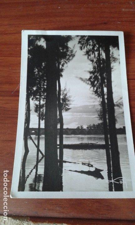 BADAJOZ. EDICIONES LOTY 6010 - PUESTA DE SOL SOBRE EL GUADIANA (Postales - España - Extremadura Antigua (hasta 1939))