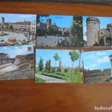 Postales: LOTE DE 12 POSTALES DE BADAJOZ Y PROVINCIA AÑOS 60 Y 70 EN COLOR - TODAS DISTINTAS. Lote 176175533