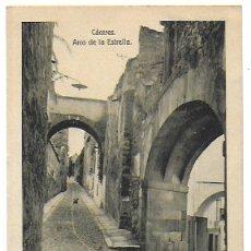 Postales: P-9470. POSTAL CACERES, ARCO DE LA ESTRELLA. . Lote 176278405