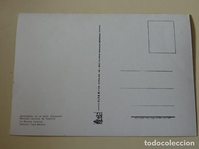 Postales: Postal CÁCERES Navalmoral de la Mata Mercado central de Abastos FITER 1967 - Foto 2 - 177127085
