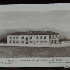Postales: TRUJILLO (CACERES), AMBULATORIO, ARQUITECTO SR. BOTELLA, UNA OBRA DE JUSTICIA SOCIAL DE FRANCO, PUBL. Lote 177555682