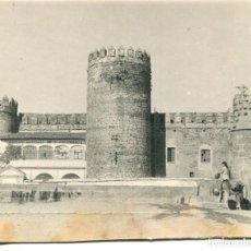 Postales: ZAFRA-CASTILLO DE MEDINACELI-EXTERIOR- MUJER CON BURRO CARGANDO AGUA--FOTOGRÁFICA AÑO 1948- RARA. Lote 177761452
