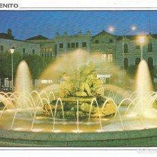 Postales: [POSTAL] PLAZA ESPAÑA. FUENTE LUMINOSA. DON BENITO (BADAJOZ) (SIN CIRCULAR). Lote 178214268