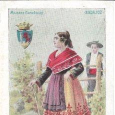 Postales: BADAJOZ, MUJERES ESPAÑOLAS. ED. CALLEJA Nº 6 - SIN CIRCULAR - SIN DIVIDIR. Lote 178218975