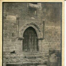 Postales: TRUJÍLLO-PUERTA DE SANTIAGO-IGLESIA- AÑO 1929 FOTOGRÁFICA MUY RARA. Lote 178571316