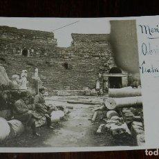 Postales: FOTO POSTAL DE MERIDA (BADAJOZ) TEATRO ROMANO, ABRIL 1921, SIN CIRCULAR, REALMENTE EXCEPCIONAL. Lote 179221411