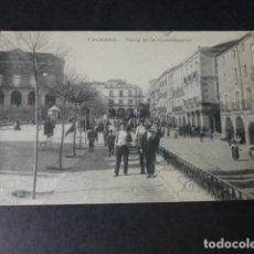 Postales: CACERES PLAZA DE LA CONSTITUCION. Lote 182248083