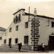 Postales: FOTOGRAFIA ANTIGUA DE DON BENITO (BADAJOZ) EXTREMADURA, CASA SOLARIEGA PARA INSTALACION DE LA ESCUEL. Lote 182597545