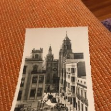 Postales: ANTIGUA POSTAL FOTOGRÁFICA BADAJOZ HOTEL MADRID EN LA PLAZA DE LA SOLEDAD. Lote 183026705