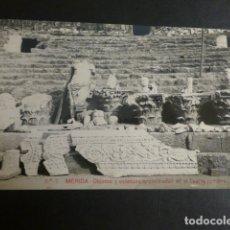 Postales: MERIDA BADAJOZ OBJETOS Y ESTATUAS ENCONTRADOS EN EL TEATRO ROMANO POSTAL FOTOGRAFICA . Lote 183064623