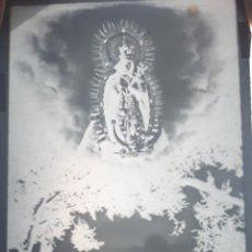 Postales: ANTIGUO CLICHÉ DE LA STMA. VIRGEN DE LA ESTRELLA SANTOS DE MAIMONA BADAJOZ NEGATIVO EN CRISTAL. Lote 183443351