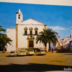 Postales: POSTAL OLIVA DE LA FRONTERA .-PARROQUIA S.MARCOS Y AYUNTAMIENTO COCHES .-CIRCULADA. Lote 183482726