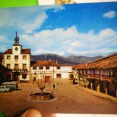 Cartes Postales: POSTAL CUACOS DE YUSTE CÁCERES PLAZA DE ESPAÑA AL FONDO SIERRA DE GREDOS. Lote 183801913
