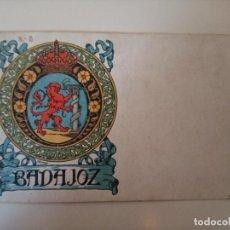 Postales: POSTAL HERMENEGILDO MIRALLES ESCUDO DE BADAJOZ A COLOR (SIN CIRCULAR). Lote 184008227