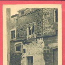 Postales: CACERES- CASITA MUZARABE, SIN CIRCULAR, EDICION EULOGIO BLASCO, VER FOTOS. Lote 184220263