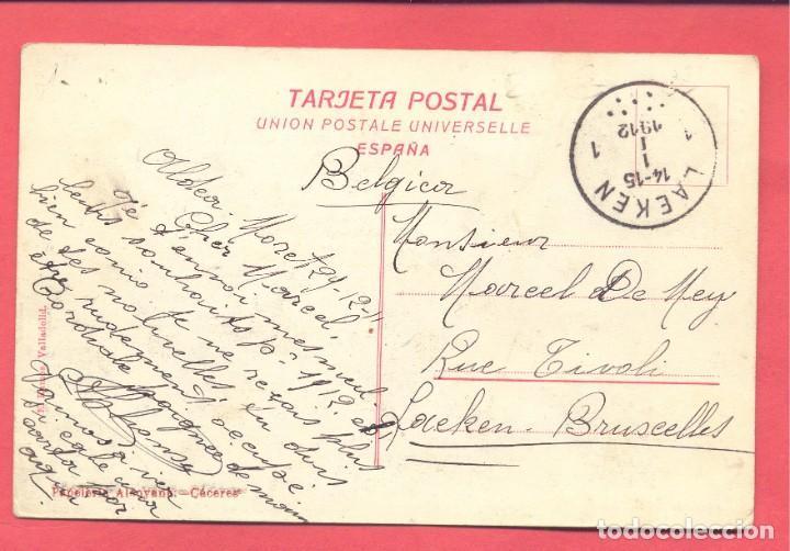 Postales: caceres santuario de la virgen de la montaña, circulada 1912, papeleria alcoyana, ver fotos - Foto 2 - 184228348