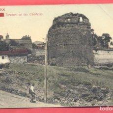 Postales: CACERES TORREON DE LAS CANDELAS, CIRCULADA 1910, PAPELERIA ALCOYANA, VER FOTOS. Lote 184228467