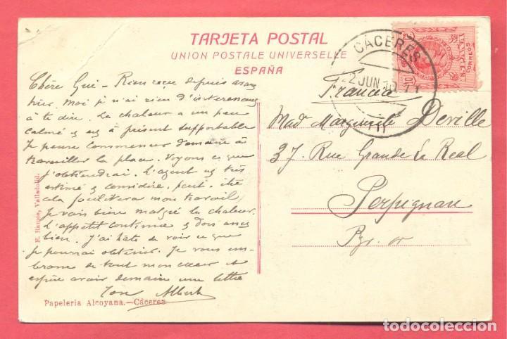 Postales: caceres torreon de las candelas, circulada 1910, papeleria alcoyana, ver fotos - Foto 2 - 184228467