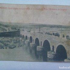 Postales: POSTAL DE EXTREMADURA , MERIDA ( BADAJOZ ): GRAN PUENTE ROMANO . PRINCIPIOS DE SIGLO. Lote 184238392