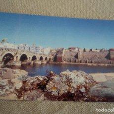 Postales: MERIDA VISTA DEL PUENTE Y LA ALCAZABA FOTO SANCHEZ. Lote 187152206