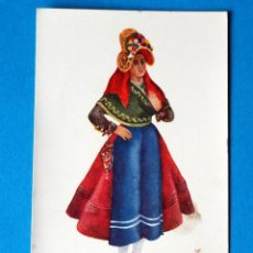 Postales: POSTAL DE CACERES: JOVEN DE MONTEHERMOSO. EDICIONES BRUJULA .TRAJES REGIONALES Nº 1. Lote 187215335