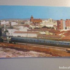 Postais: POSTAL VILLANUEVA DE LA SERENA ( BADAJOZ ) ( LOCOMOTORA TREN FERROCARRIL ). Lote 189134211
