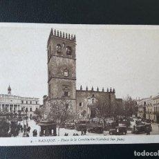 Postales: POSTAL BADAJOZ - PLAZA DE LA CONSTITUCIÓN. Lote 189540837