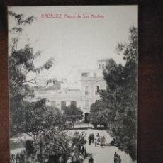 Postales: BADAJOZ. PASEO DE SAN ANDRÉS. EDICIÓN JOAQUÍN SÁNCHEZ LÓPEZ. BADAJOZ.. Lote 189619353