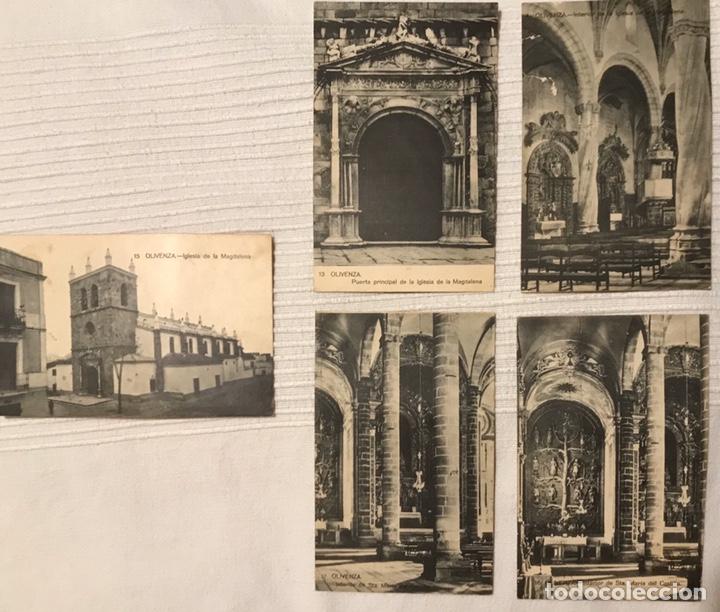 LOTE DE 5 POSTALES SIN CIRCULAR AÑOS 20, OLIVENZA - OLIVENÇA. COLECCIONISMO (Postales - España - Extremadura Antigua (hasta 1939))