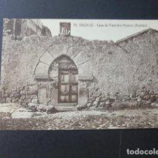 Postales: TRUJILLO CACERES CASA DE FRANCISCO PIZARRO RUINAS EDICION SOBRINO DE BENITO PEÑA Nº 15. Lote 190958687