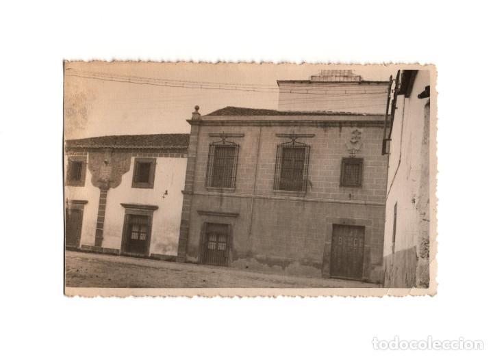 MIAJADAS.(CÁCERES).- PALACIO DEL OBISPO SOLÍS. POSTAL FOTOGRÁFICA. (Postales - España - Extremadura Antigua (hasta 1939))