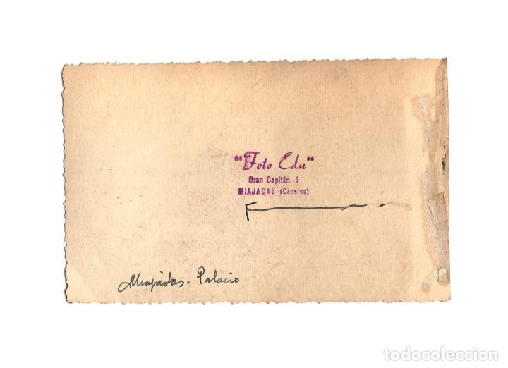 Postales: MIAJADAS.(CÁCERES).- PALACIO DEL OBISPO SOLÍS. POSTAL FOTOGRÁFICA. - Foto 2 - 191088118