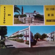 Postales: POSTAL RECUERDO DE OLIVA DE LA FRONTERA. Lote 191169050
