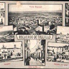 Postales: TRUJILLO (CACERES) - RECUERDO DE TRUJILLO - EDITOR A. DURAN TRUJILLO. Lote 191613630