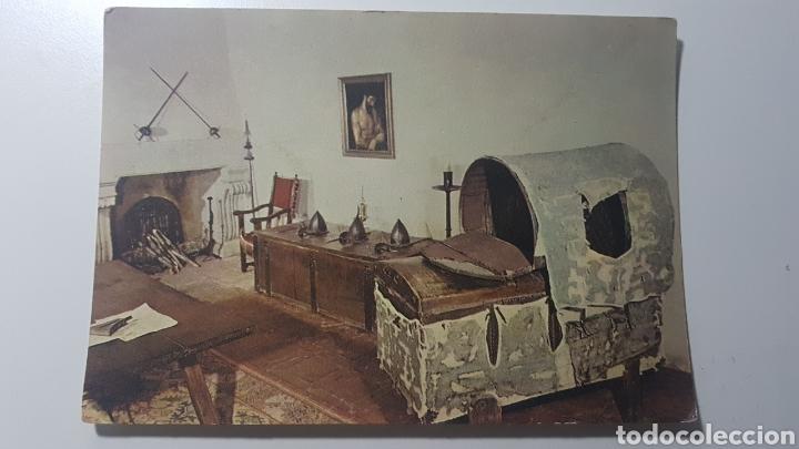 TARJETA MONASTERIO DE SAN JERÓNIMO DE YUSTE CÁCERES - LITERA DEL EMPERADOR CARLOS V - 1965 - 106X151 (Postales - España - Extremadura Moderna (desde 1940))