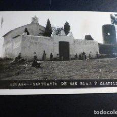 Postales: AZUAGA BADAJOZ SANTUARIO DE SAN BLAS Y CASTILLO. Lote 193429413
