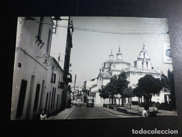 AZUAGA BADAJOZ VISTA DE LA PLAZA DEL CRISTO ED. FOTO ORTIZ POSTAL FOTOGRAFICA (Postales - España - Extremadura Antigua (hasta 1939))