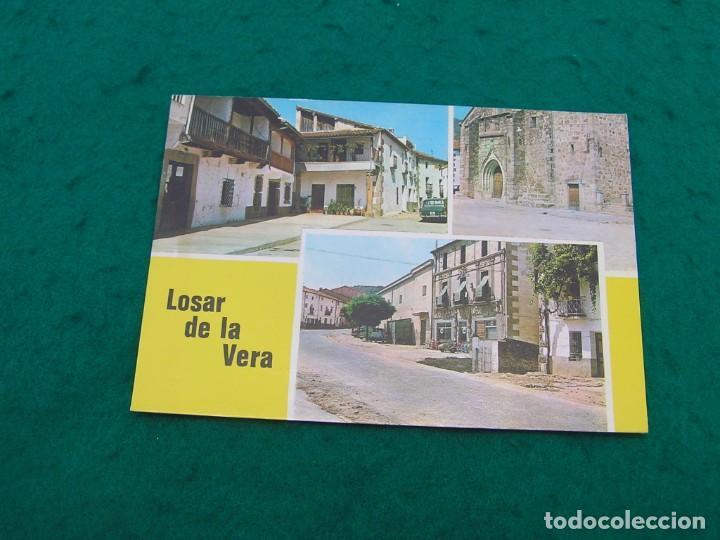 POSTAL MULTIFOTO CON NOMBRE DEL PUEBLO DE LOSAR DE LA VERA ( CÁCERES). SIN USAR. (Postales - España - Extremadura Moderna (desde 1940))