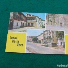 Postales: POSTAL MULTIFOTO CON NOMBRE DEL PUEBLO DE LOSAR DE LA VERA ( CÁCERES). SIN USAR.. Lote 194184098