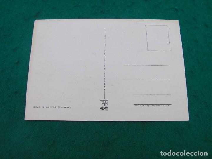 Postales: Postal multifoto con nombre del pueblo de LOSAR DE LA VERA ( CÁCERES). Sin usar. - Foto 2 - 194184098