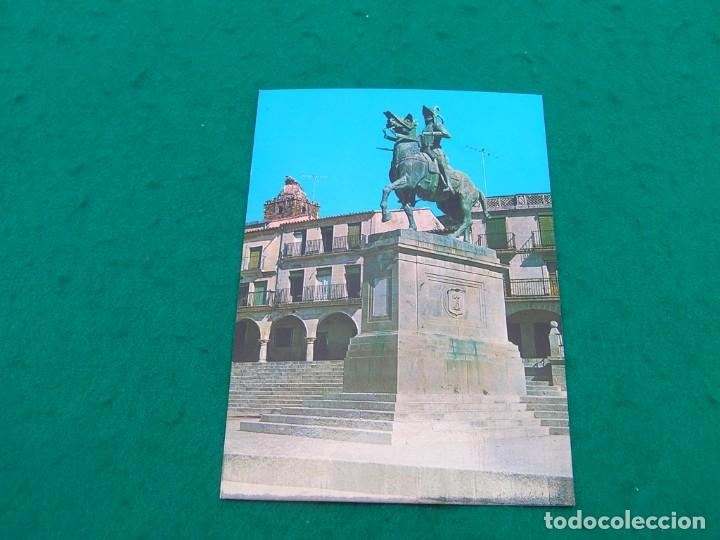 POSTAL DEL MONUMENTO A PIZARRO EN LA PLAZA MAYOR DE TRUJILLO ( CÁCERES). (Postales - España - Extremadura Moderna (desde 1940))