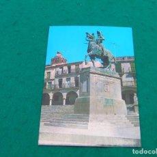 Postales: POSTAL DEL MONUMENTO A PIZARRO EN LA PLAZA MAYOR DE TRUJILLO ( CÁCERES).. Lote 194185148