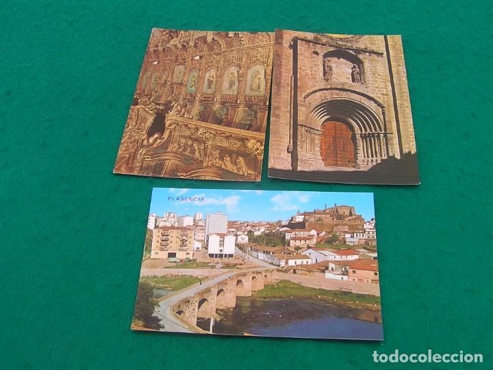 LOTE DE 3 POSTALES DISTINTAS DE PLASENCIA ( CÁCERES). ¿AÑOS 70? (Postales - España - Extremadura Moderna (desde 1940))