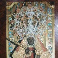 Postales: 58 GUADALUPE. ESCULTURA DE LA VIRGEN (SIGLO XII) EN EL TRONO SIGLO XX. HERLOGAR. . Lote 194619880